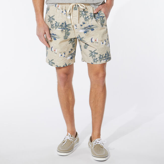 "7""  ISLAND PRINT BOARDWALK SHORT,Sandcove,large"