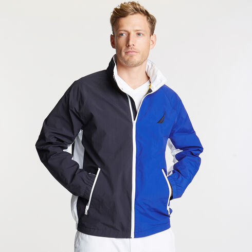 Colorblock Lightweight Jacket - Navy