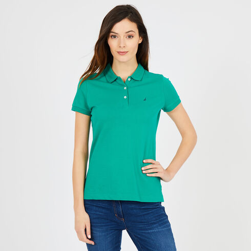 Short Sleeve Classic Fit Anchor Polo - Vibe Green