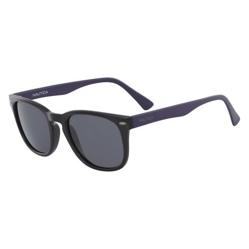 Squared Sunglasses with Black Frame - Black