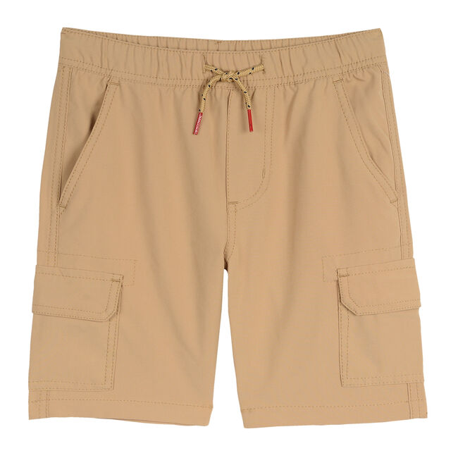 BOYS' EXPLORER PULL-ON CARGO SHORT,Dark Oatmeal Heather,large