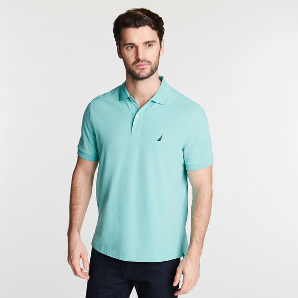 Classic Fit Mesh Polo - Pool Side Aqua
