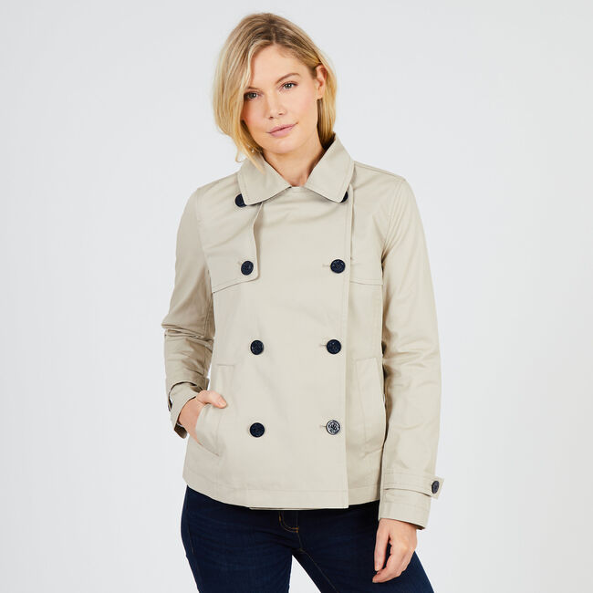 Double-Breasted Trench Jacket,Sandcove,large