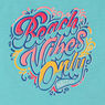 GIRLS' BEACH VIBES ONLY FOIL GRAPHIC T-SHIRT (8-16),Mint Spring,large