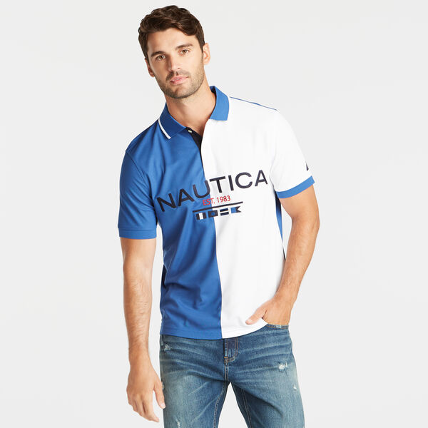 CLASSIC FIT SIGNAL FLAG PERFORMANCE POLO - Windsurf Blue