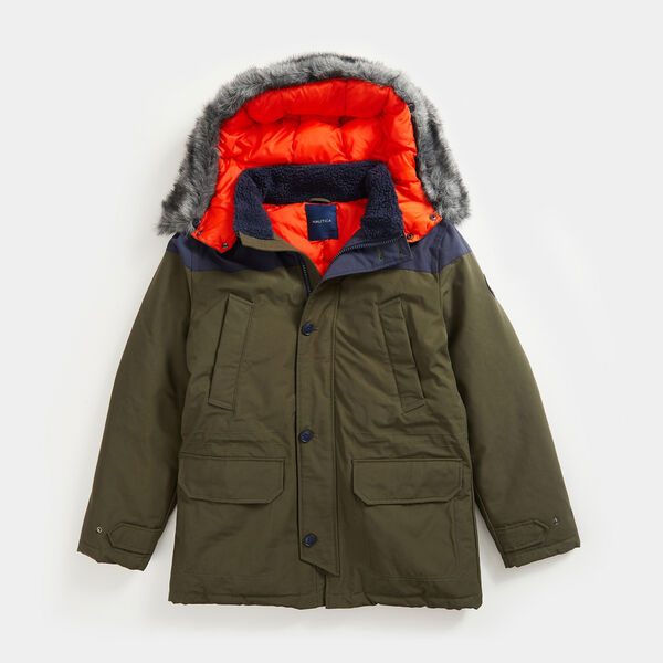 SUSTAINABLY CRAFTED TEMPASPHERE  COLOBLOCK PARKA - Olive