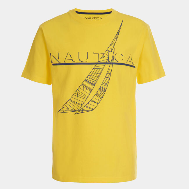 BOYS' SKETCH J CLASS GRAPHIC T-SHIRT (8-20),Firefly,large