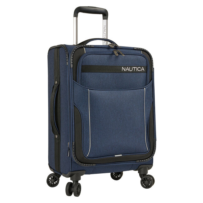 "Naval Yard 19"" Expandable Spinner Luggage,Navy,large"