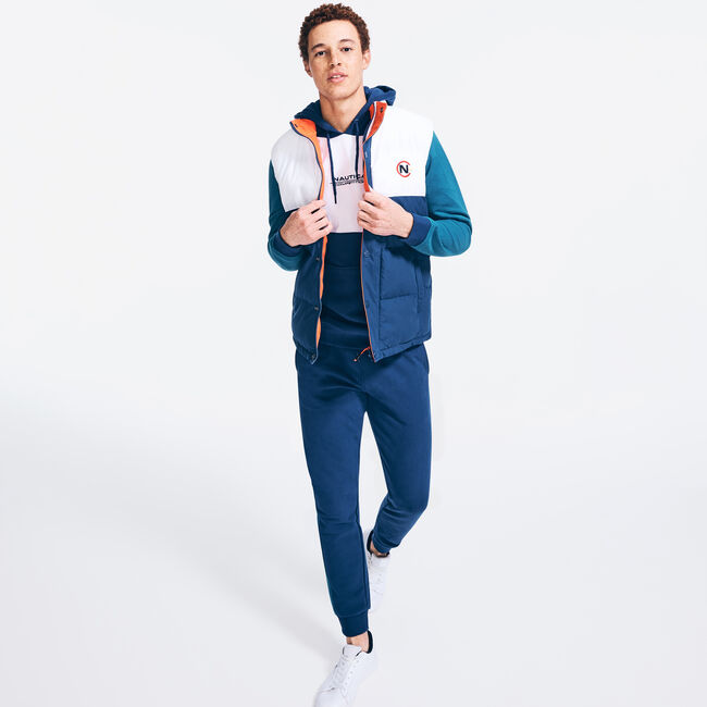 COMPETITION COLORBLOCK PUFFER VEST,Navy,large