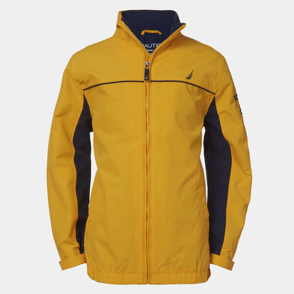 BOYS' WATER-RESISTANT COLORBLOCK J-CLASS JACKET (8-20) - Yellow