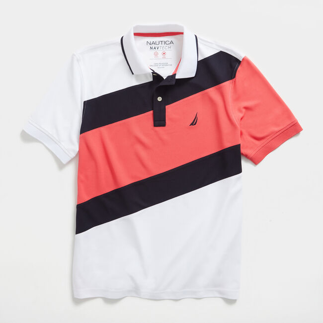CLASSIC FIT COLORBLOCK POLO,Bright White,large