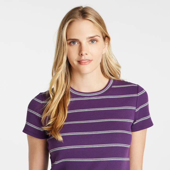 STRIPED RIBBED TOP,Majestic Purple,large