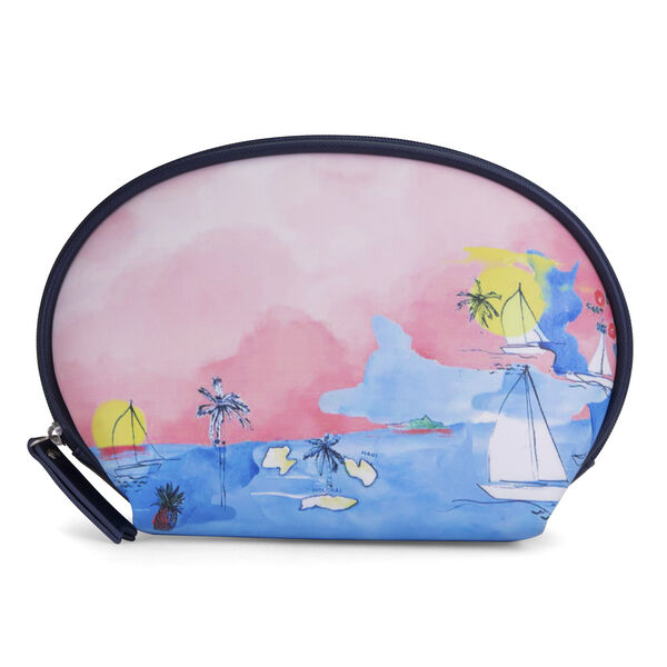 Scenic Print Single Dome Travel Case - Multi