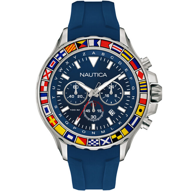 NST 1000 Chronograph Sport Watch - Blue,Multi,large