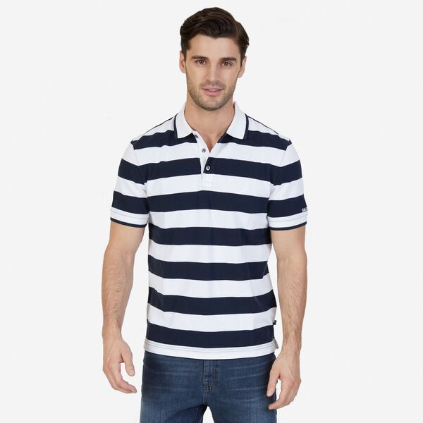 Classic Fit Heritage Striped Polo Shirt - True Navy