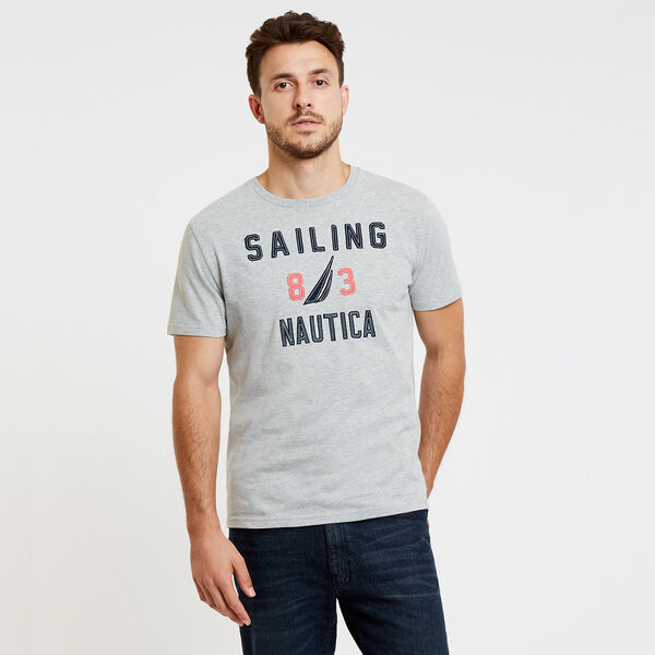 Sailing '83 J-Class Crewneck T-Shirt - Grey Heather