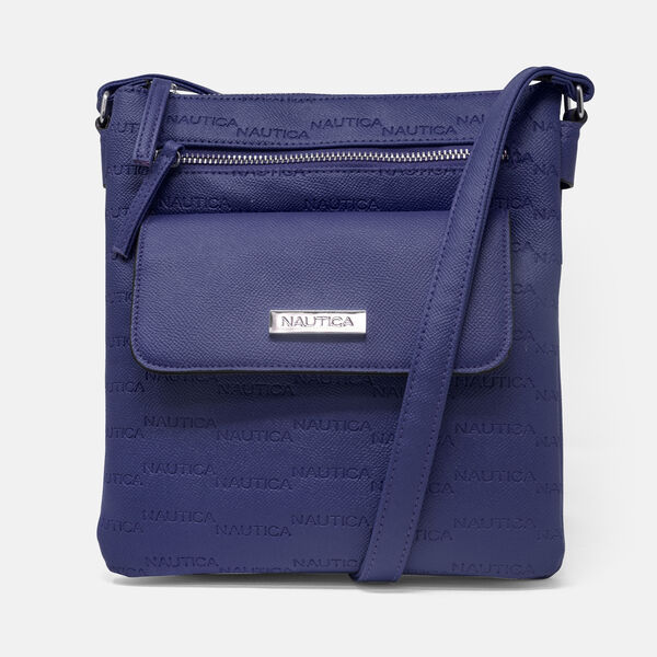 KEY LARGO CANVAS CROSSBODY BAG - Navy