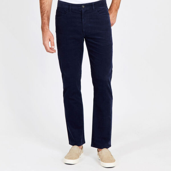 Straight Leg Corduroy Pant - Pure Dark Pacific Wash