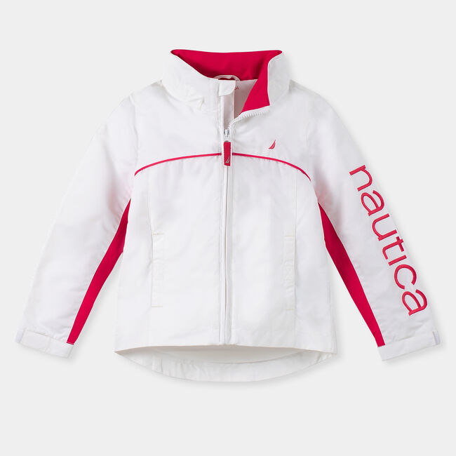 GIRLS' WATER-RESISTANT J-CLASS JACKET (8-20),Antique White Wash,large