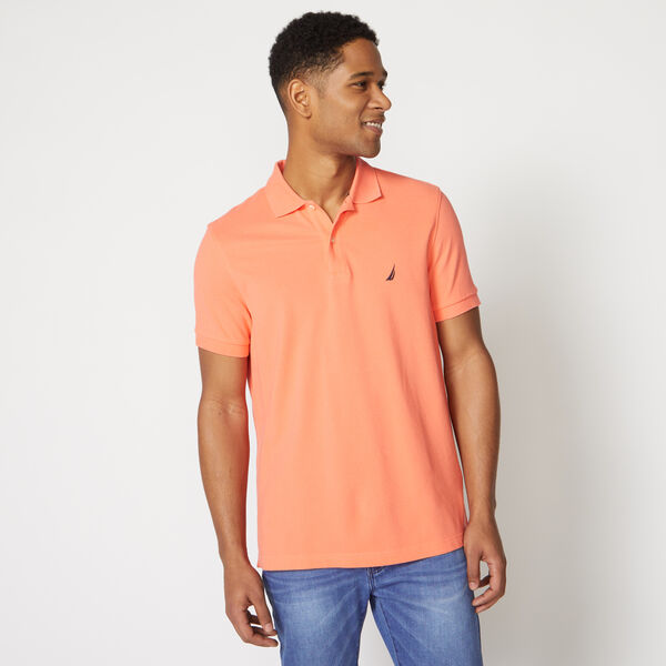 SLIM FIT DECK POLO - Livng Coral