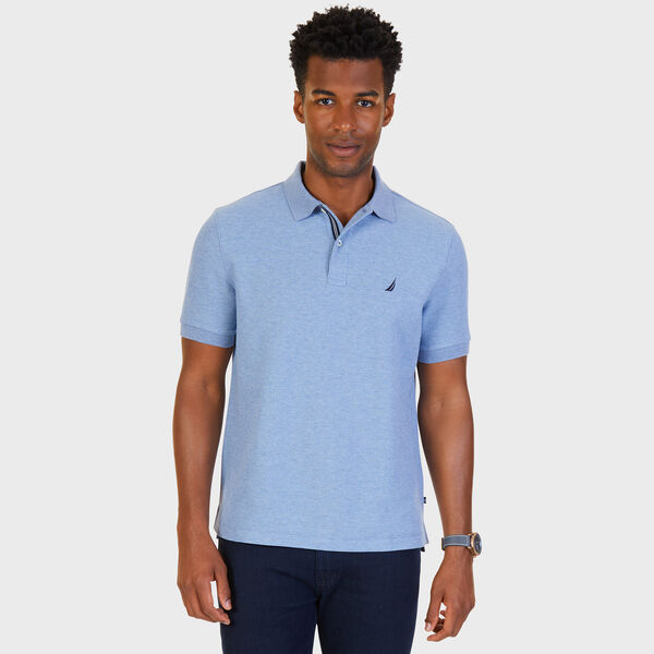 Big & Tall Performance Classic Fit Deck Polo - Anchor Blue Heather