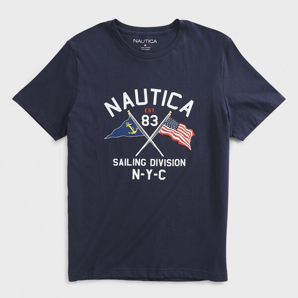 FLAG GRAPHIC T-SHIRT - Navy