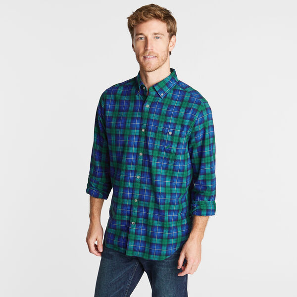 CLASSIC FIT BRUSHED TWILL SHIRT IN PLAID - Spruce
