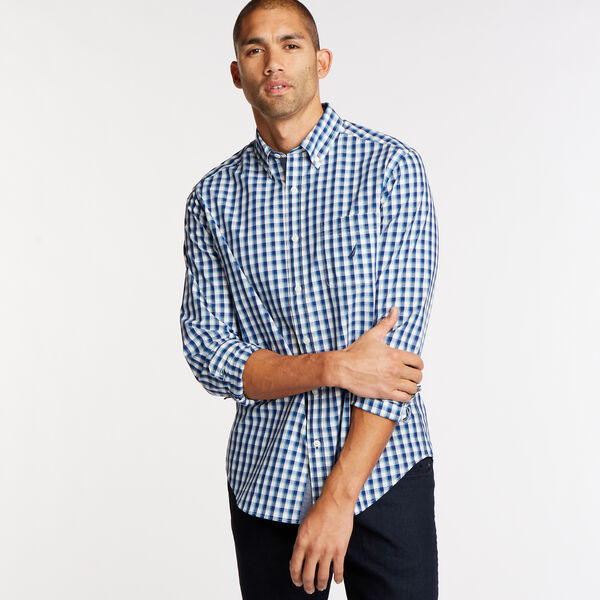 Long Sleeve Classic Fit Shirt in Plaid - Blue Depths