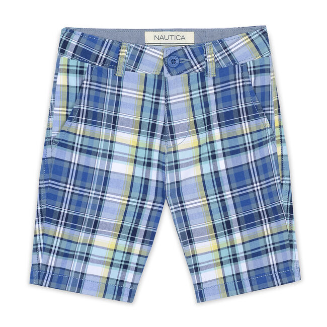 Little Boys' Grayson Plaid Shorts (4-7),Navy,large