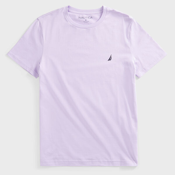 SOLID CREW NECK T-SHIRT - Lavendula