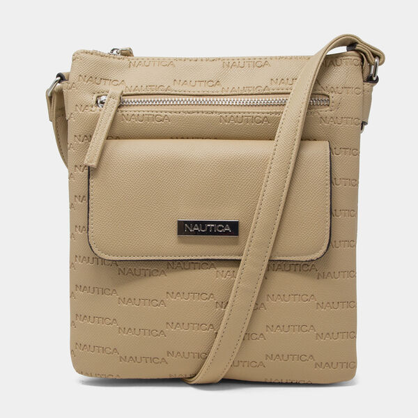 LOGO CROSSBODY BAG - Military Tan