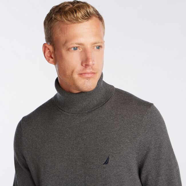 NAVTECH TURTLENECK SWEATER,Charcoal Heather,large