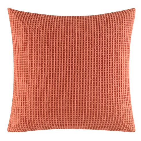 Ripple Coral Knit Throw Pillow - Flame Red