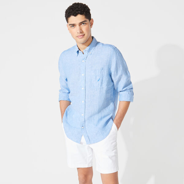 CLASSIC FIT LINEN SHIRT - Clear Sky Blue