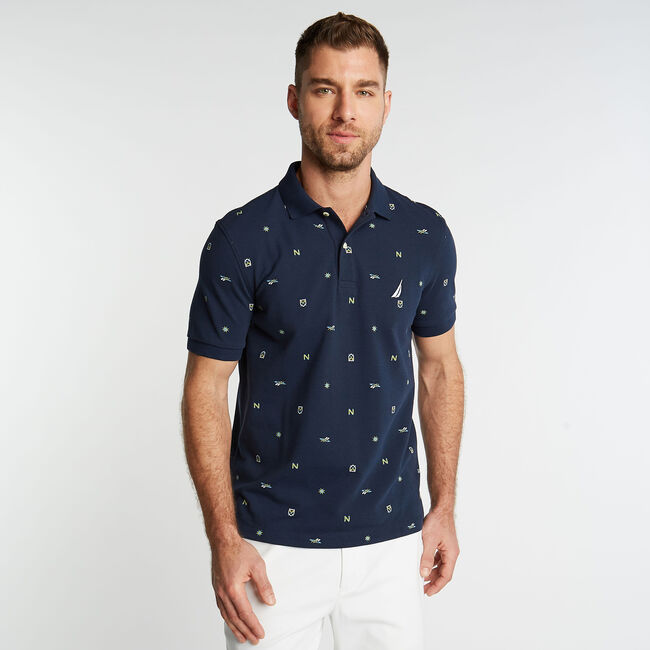 CLASSIC FIT POLO IN MARITIME PRINT,Pure Dark Pacific Wash,large