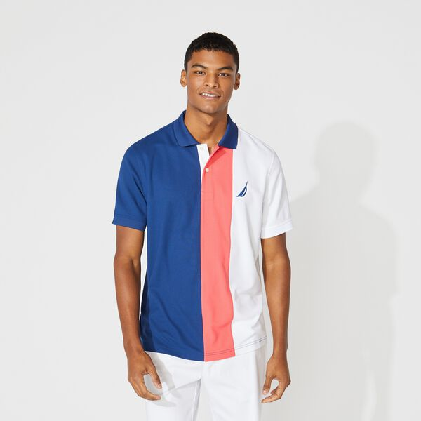 CLASSIC FIT NAVTECH COLORBLOCK POLO - Estate Blue