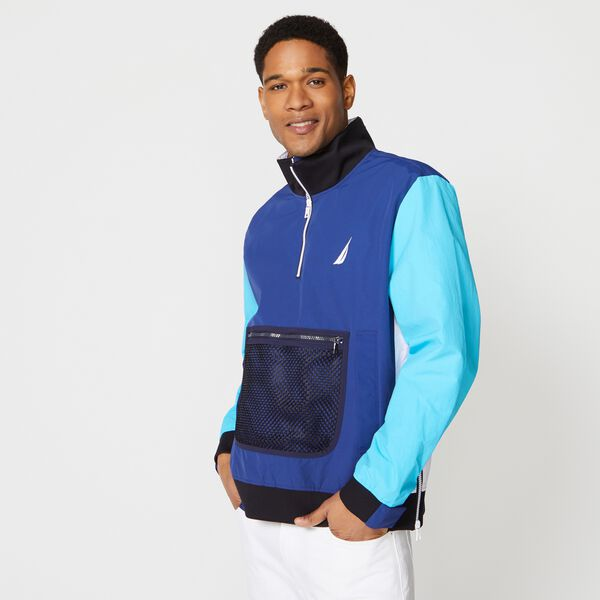 LIGHTWEIGHT COLORBLOCK JACKET - Estate Blue