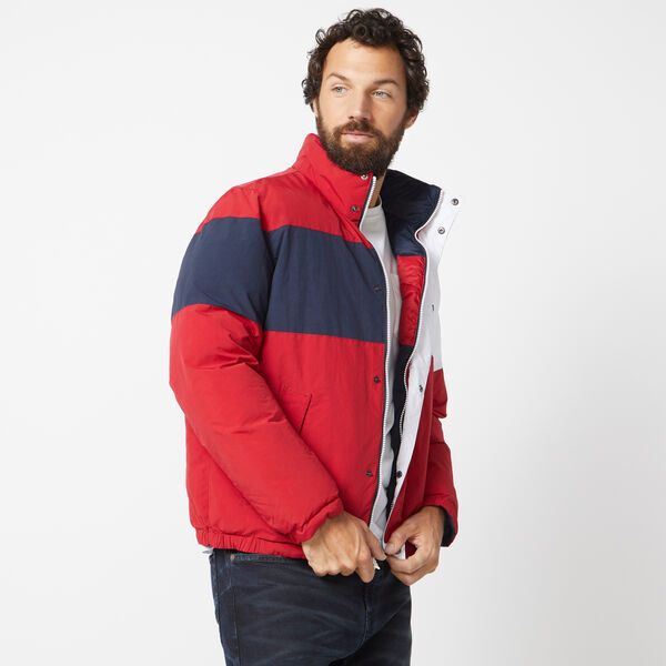 REVERSIBLE COLORBLOCK JACKET WITH TEMPASPHERE - Nautica Red