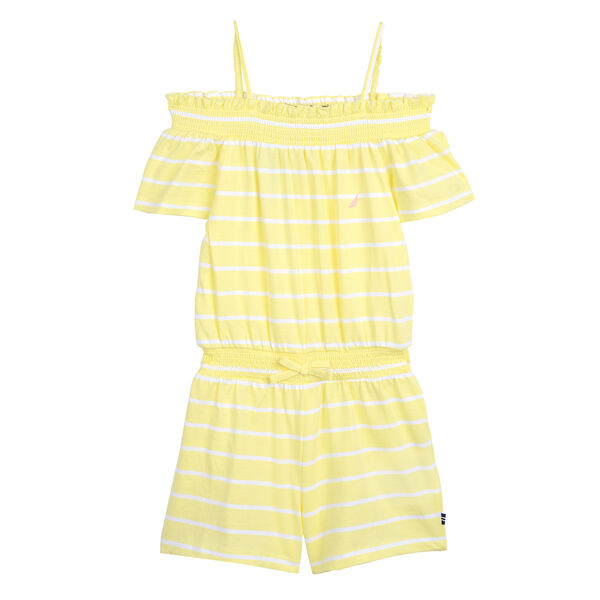 GIRLS' COTTON ROMPER - Lemonade