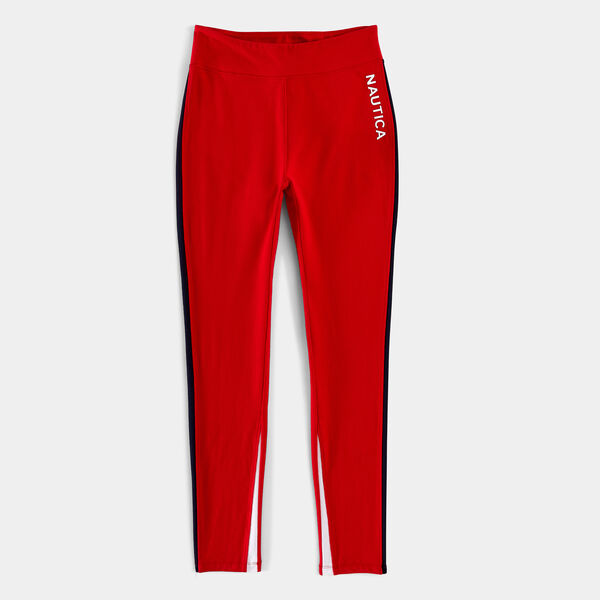 SIDE PANEL COLORBLOCK LEGGING - Tomales Red