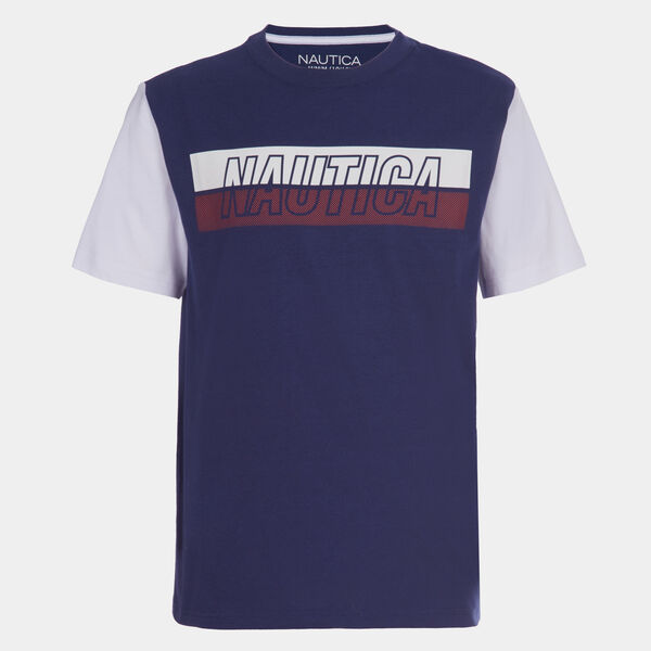 BOYS' COLORBLOCK SLEEVE GRAPHIC T-SHIRT (8-20) - J Navy