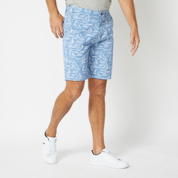 SLIM FIT SAILBOAT PRINT SHORTS - Riviera Blue