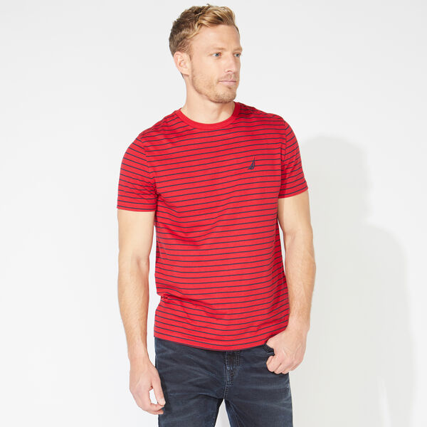 STRIPED COTTON TEE - Nautica Red