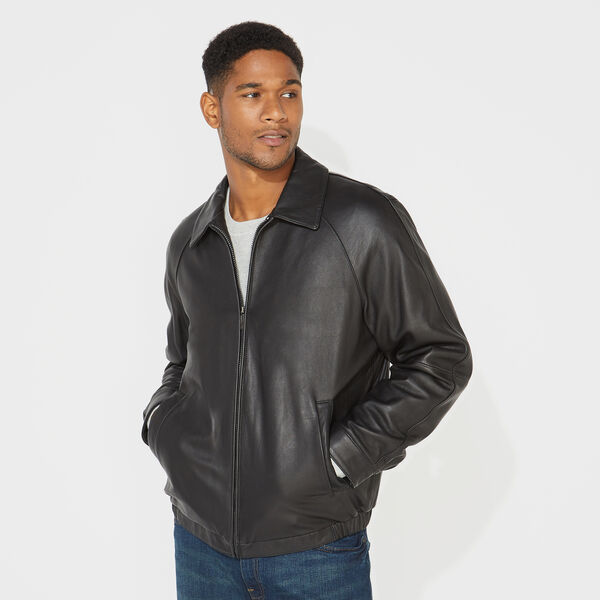 GENUINE LEATHER JACKET - Black