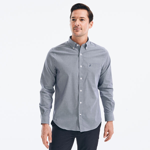 CLASSIC FIT MICRO GINGHAM SHIRT - J Navy