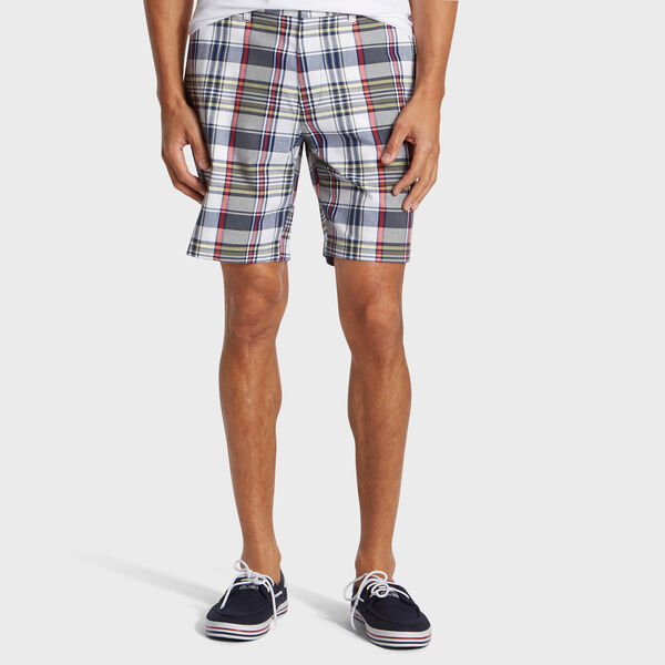 "8.5"" Plaid Deck Short - Hillside Olive"
