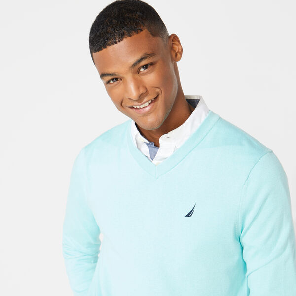 V-NECK NAVTECH SWEATER - Aquasplash