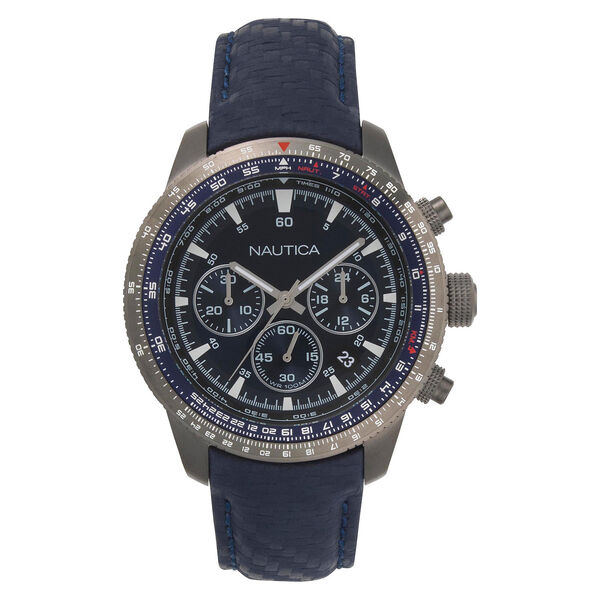 Pier 39 Chronograph Watch with Leather Band - Multi