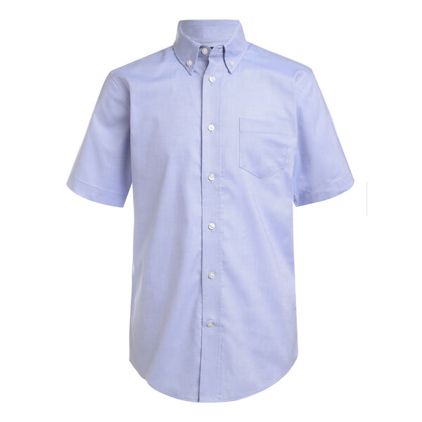 BOYS' SHORT SLEEVE STRETCH OXFORD SHIRT (8-20) - Hawaiian Ocean
