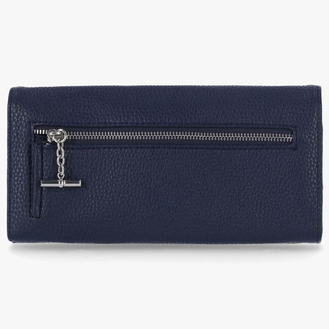 PEBBLED LOGO MONEY MANAGER WALLET WITH BOX,Navy,large